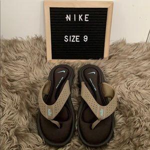 Memory foam Nike flip flops